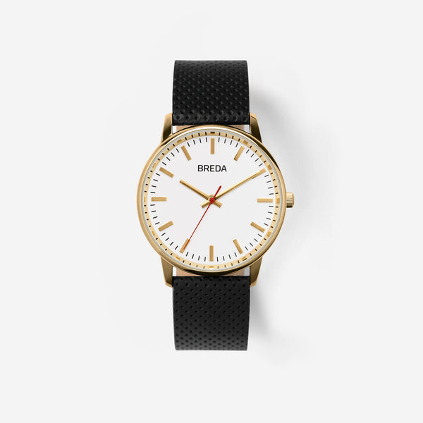 breda-zapf-1725a-gold-black-leather-watch-front