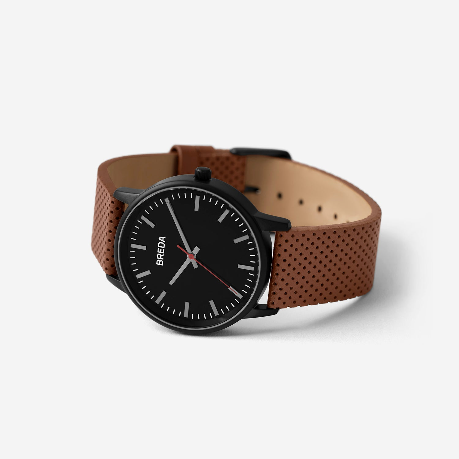 breda-zapf-1725c-black-brown-leather-watch-angle
