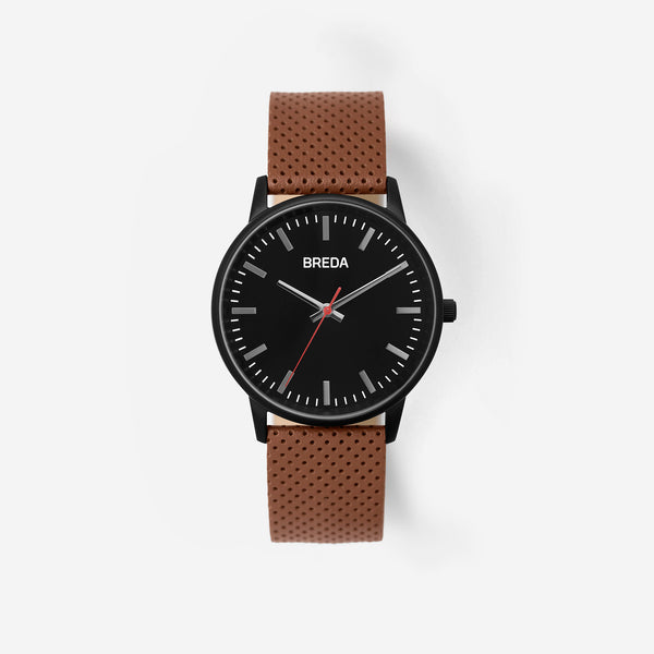 breda-zapf-1725c-black-brown-leather-watch-front