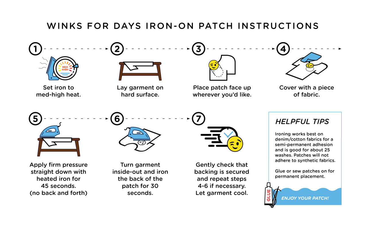 Iron On Patch Instructions Winks For Days