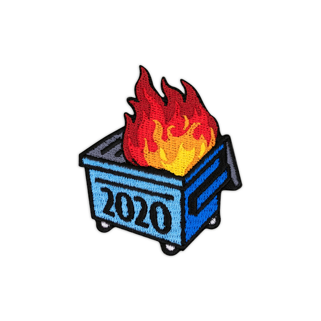 2020 Dumpster Fire Blue Dumpster Iron-On Patch