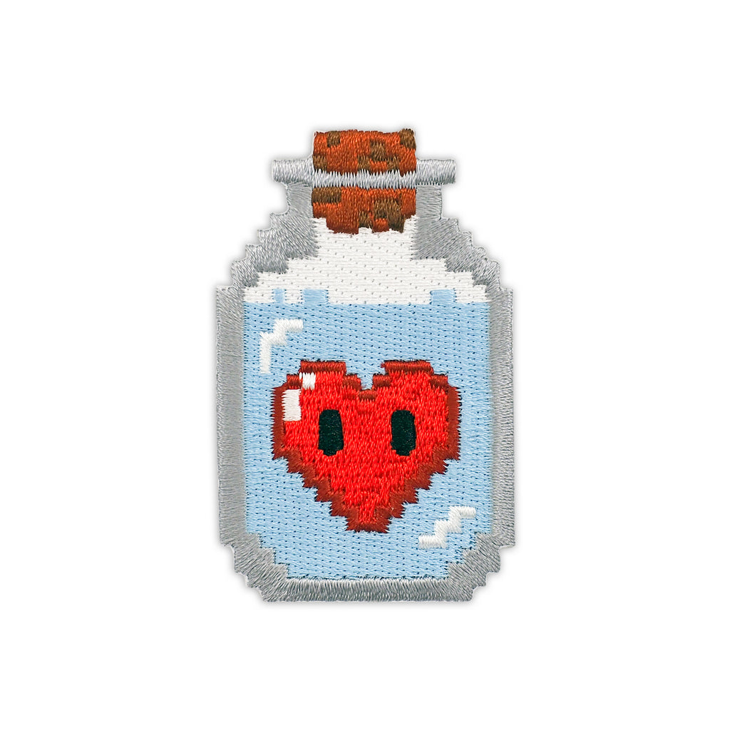 8-Bit Love Potion Embroidered Iron-On Patch