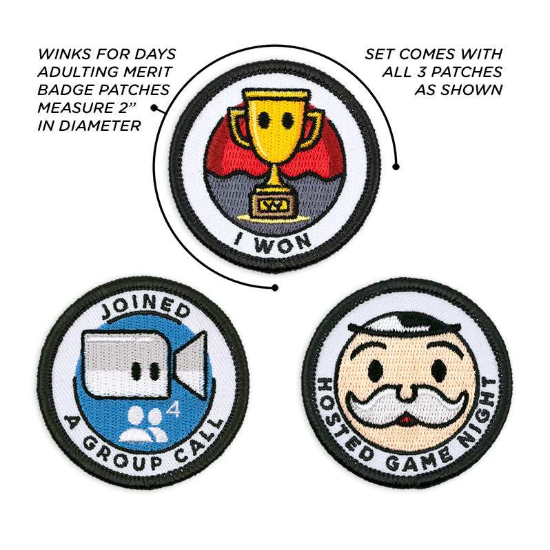 Adulting Merit Badge Embroidered Iron-On Patches (Achievements - Set 3)