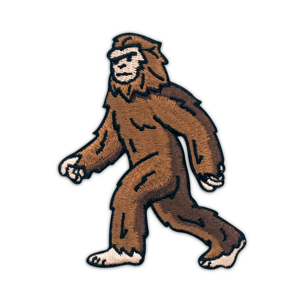 Bigfoot Sasquatch Embroidered Iron-On Patch