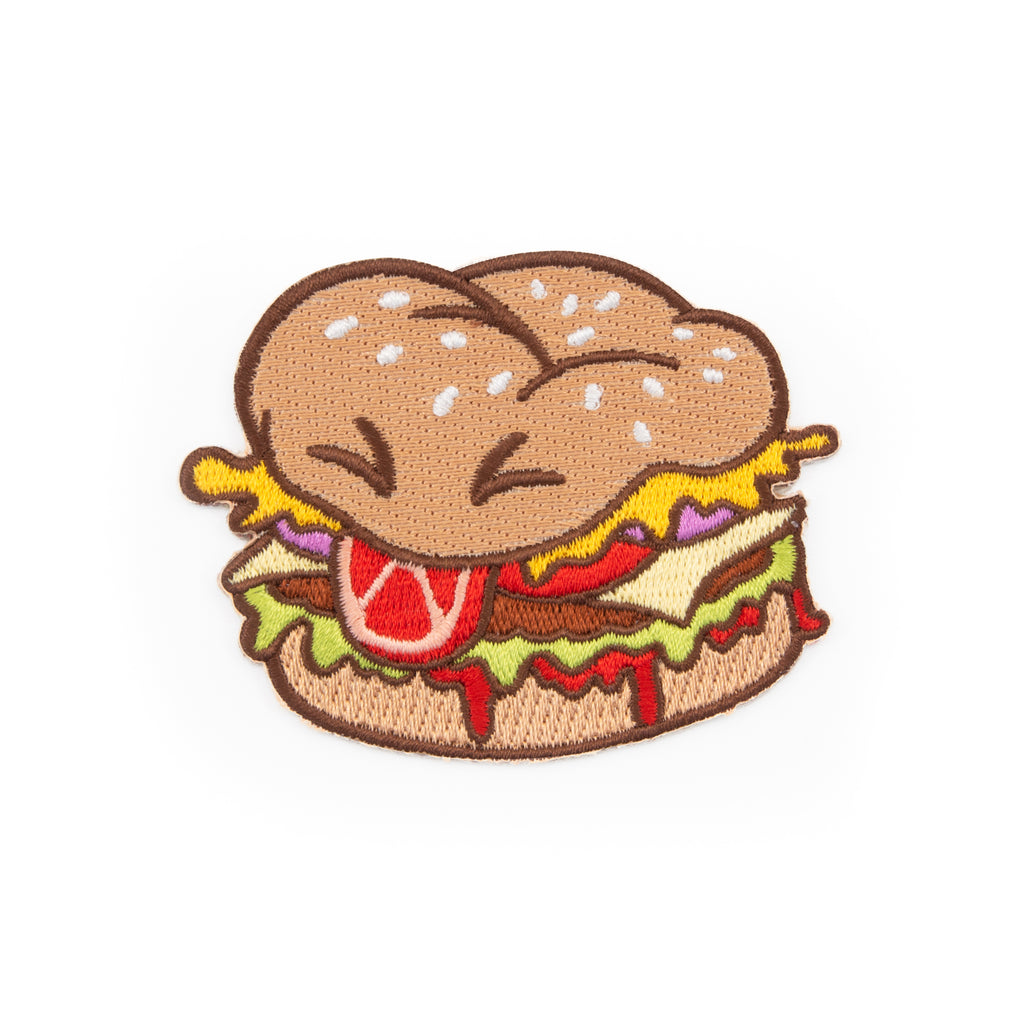 Burger Boi Embroidered Iron-On Patch