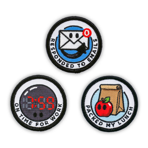 Adult Merit Badge Embroidered Iron-On Patches (Achievements - Set 1)