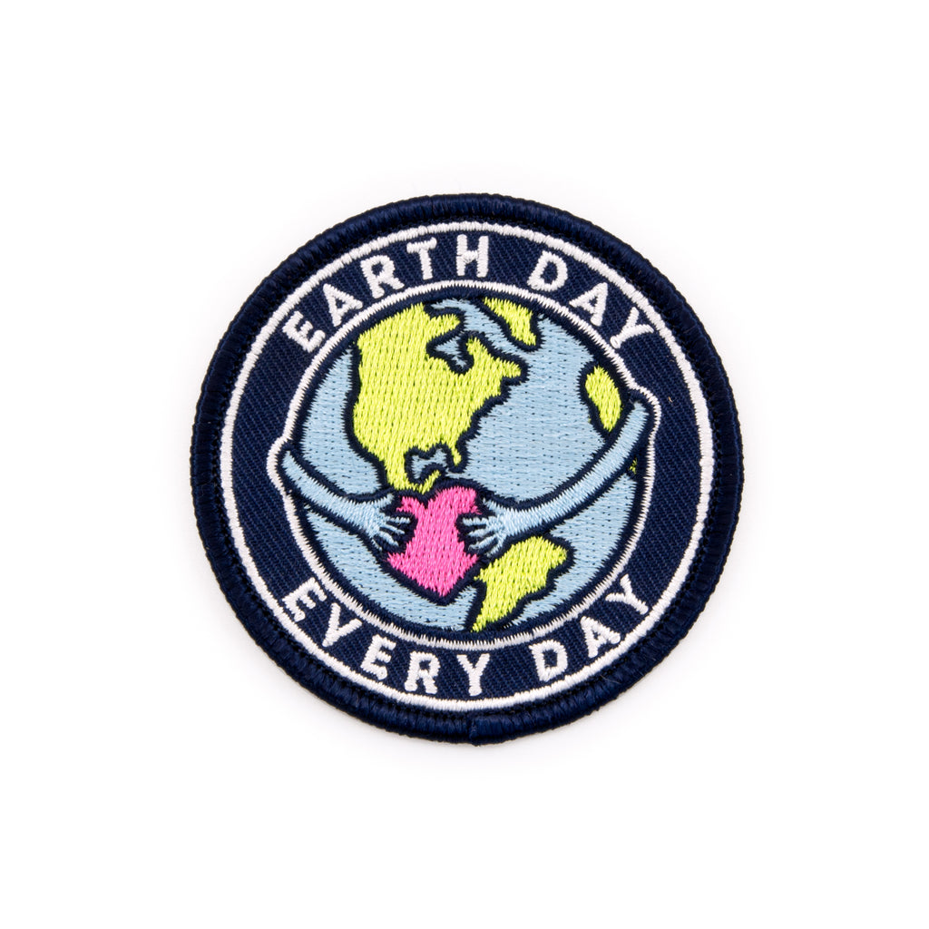 Earth Day Every Day Embroidered Iron-On Patch