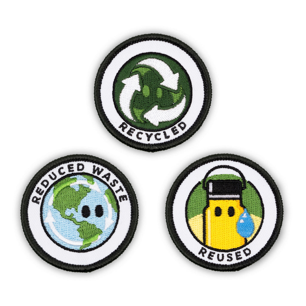 Adult Merit Badge Embroidered Iron-On Patches (Environmental - Set 1)