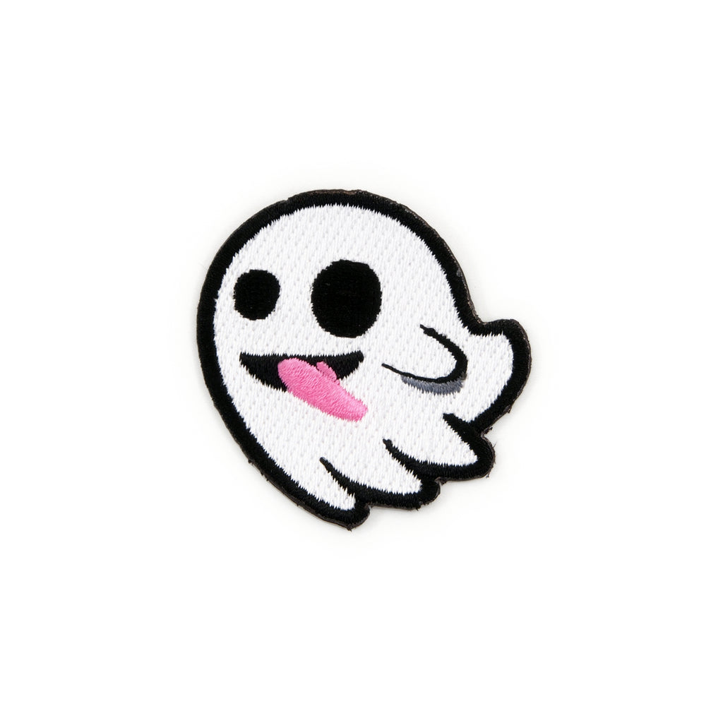 Flying Ghost Embroidered Iron-On Patch