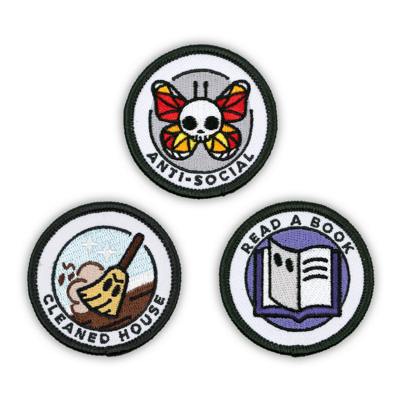 Adult Merit Badge Embroidered Iron-On Patches (Homebody - Set 1)