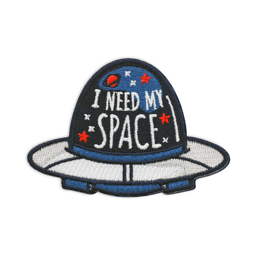 I Need My Space Embroidered Iron-On Patch