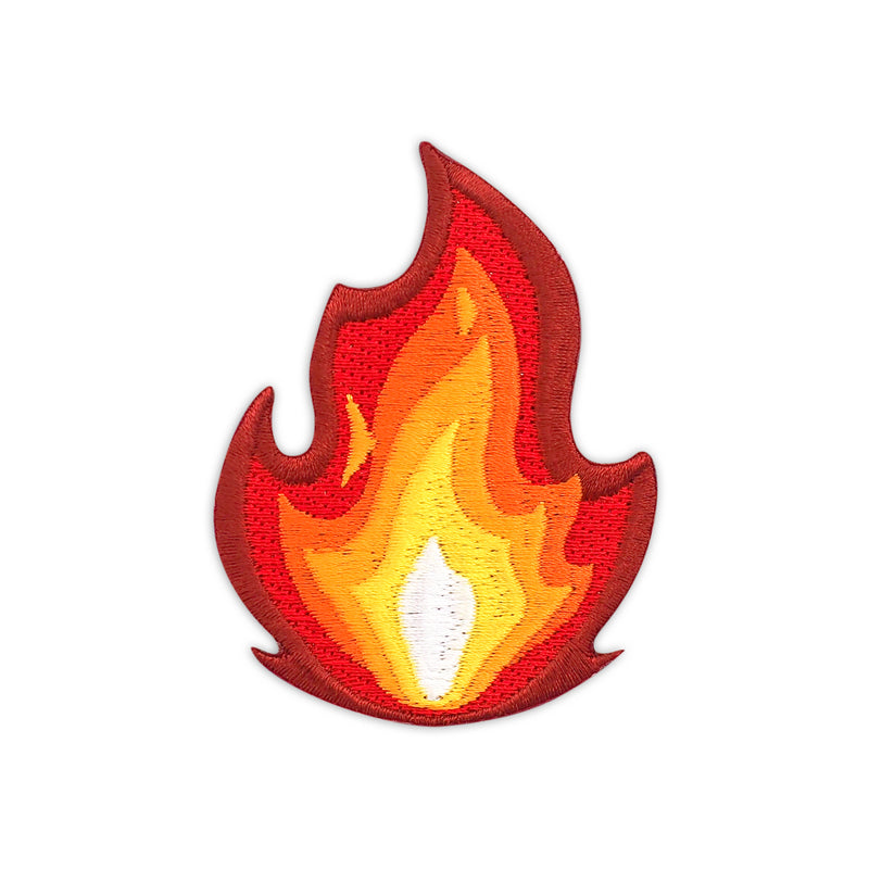 It's Fire Embroidered Iron-On Patch