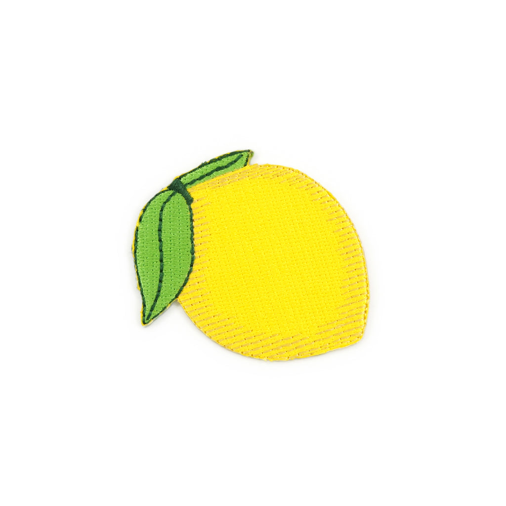 Lemon Emoji Embroidered Iron-On Patch