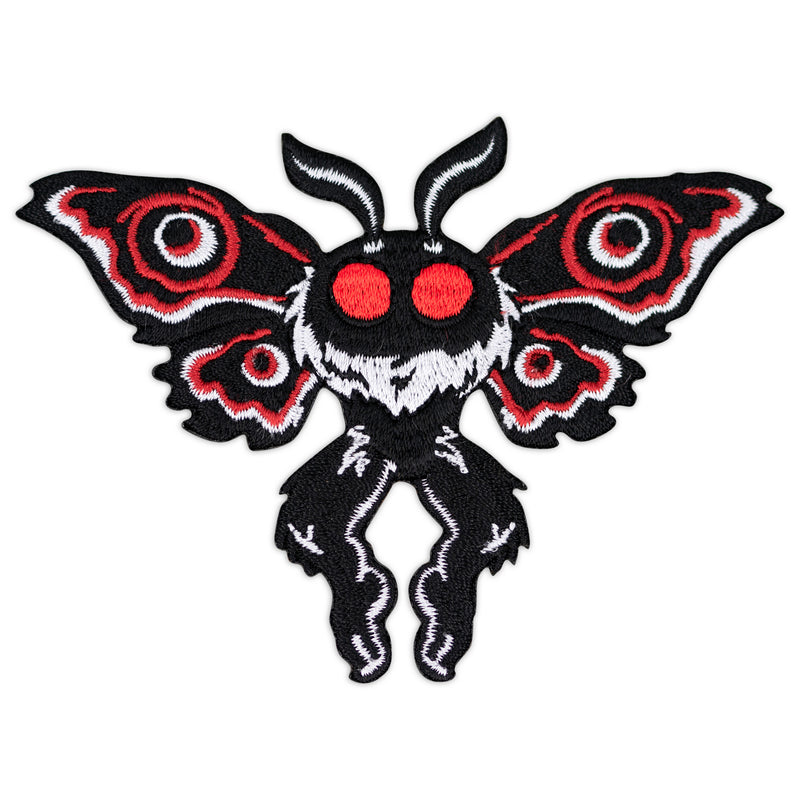 Mothman Cryptid Creature Embroidered Iron-On Patch