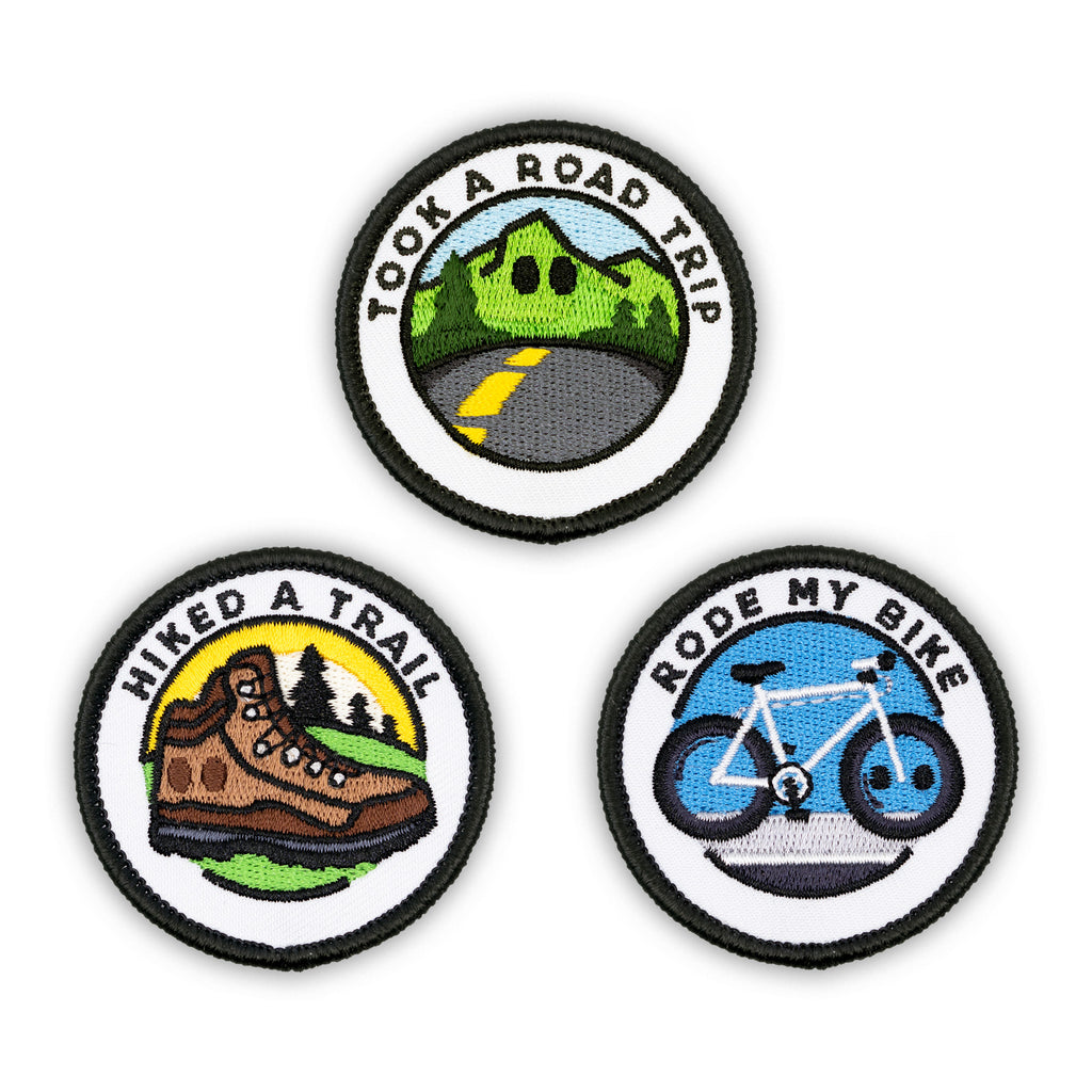 Adult Merit Badge Embroidered Iron-On Patches (Outdoors - Set 2)