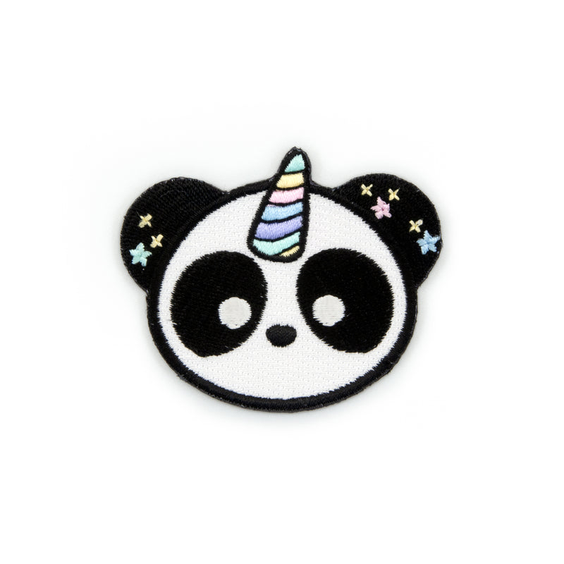 Pandacorn Embroidered Iron-On Patch