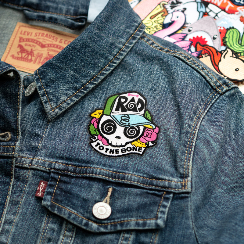 Rad to the Bone Embroidered Iron-On Patch