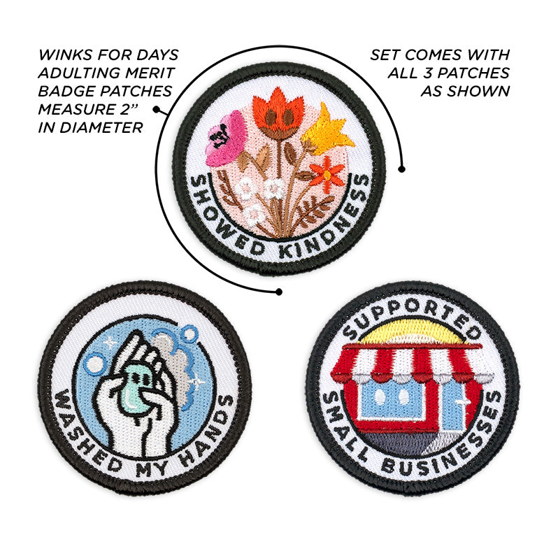 Adulting Merit Badge Embroidered Iron-On Patches (Responsibilities - Set 4)
