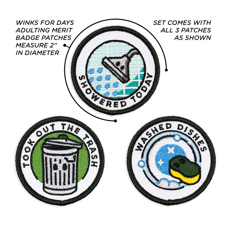 Adult Merit Badge Embroidered Iron-On Patches (Responsibilities - Set 6)