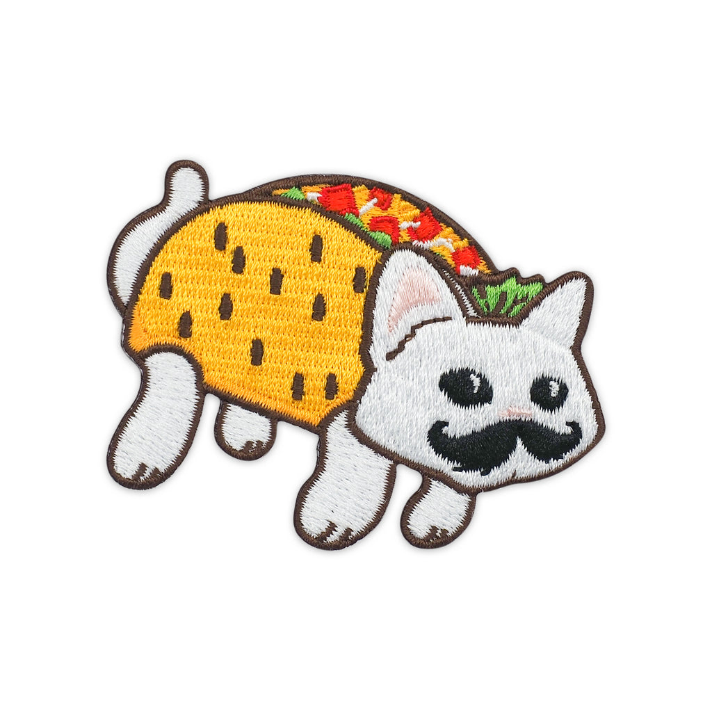 Taco Cat Spelled Backwards is Taco Cat Embroidered Iron-On Patch