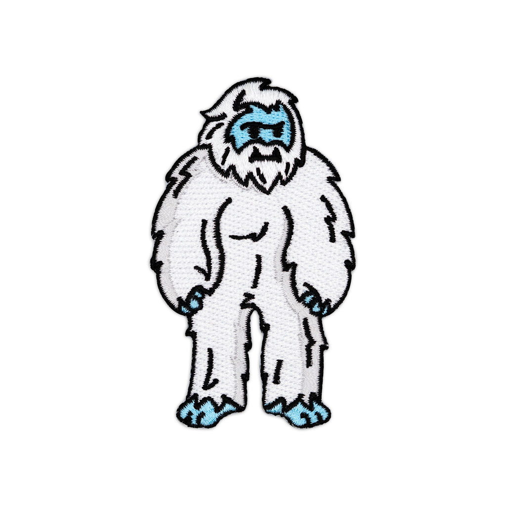 Yeti Abominable Snowman Monster Embroidered Iron-On Patch