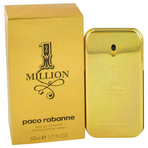 1 Million by Paco Rabanne Eau De Toilette Spray 1.7 oz Men - Fragrance And Gift