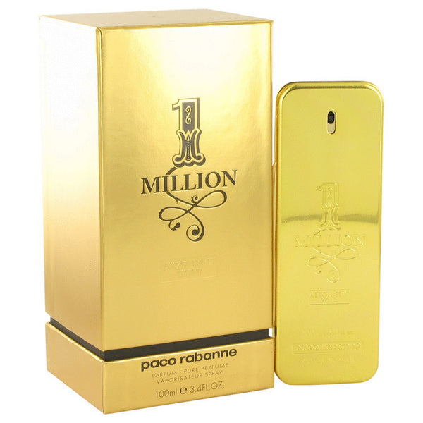 1 Million Absolutely Gold Cologne by Paco Rabanne Pure Perfume Spray 3.3 oz Men - Fragrance And Gift