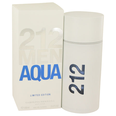 212 Aqua by Carolina Herrera Eau De Toilette Spray 3.4 oz Men