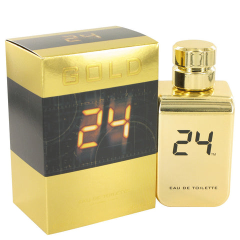 24 Gold The Fragrance by ScentStory Eau De Toilette Spray 3.4 oz Men