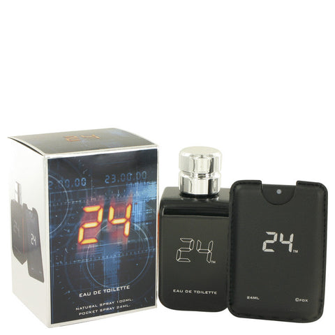 24 The Fragrance by ScentStory Eau De Toilette Spray + 0.8 oz Mini Pocket Spray 3.4 oz Men