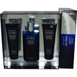 COOL WATER NIGHT DIVE by Davidoff EDT SPRAY 4.2 OZ & AFTER SHAVE BALM 2.5 OZ & SHOWER GEL 2.5 OZ MEN