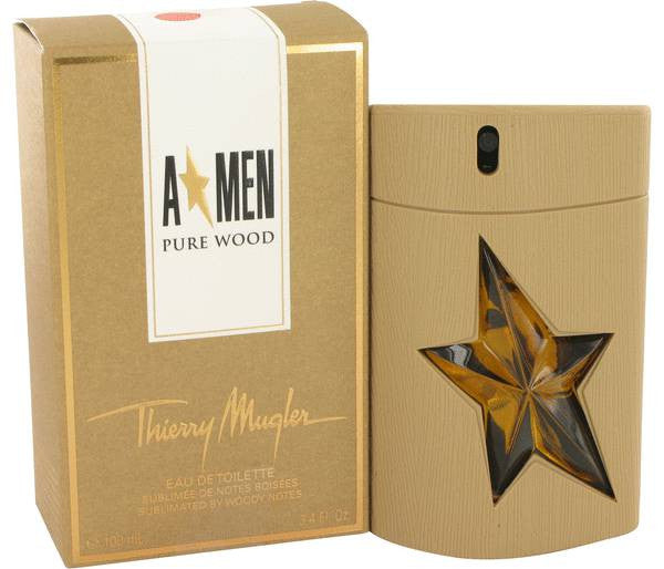Angel Pure Wood Cologne by Thierry Mugler EDT Spray 3.4 oz Men - Fragrance And Gift