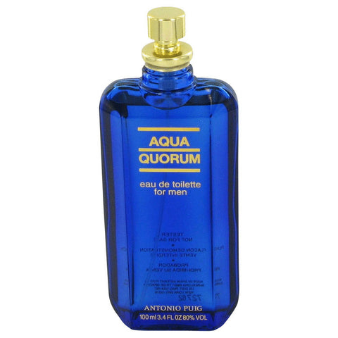 AQUA QUORUM Cologne by Antonio Puig EDT Spray (Tester) 3.4 oz Men