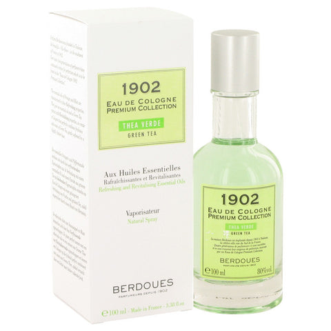 1902 Green Tea by Berdoues Eau De Cologne Spray (Unisex) 3.3 oz Men