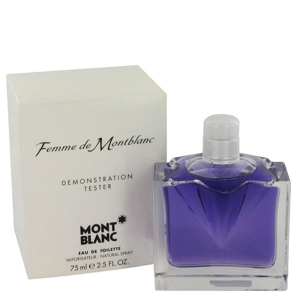 FEMME DE MONT BLANC by Mont Blanc Eau De Toilette Spray (Tester) 2.5 oz Women - Fragrance And Gift