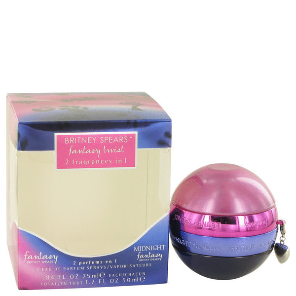 Fantasy Twist by Britney Spears One of each Fantasy and Midnight Fantasy .84 oz each Inside a Special Twist Off Bottle 1.7 oz Women - Fragrance And Gift