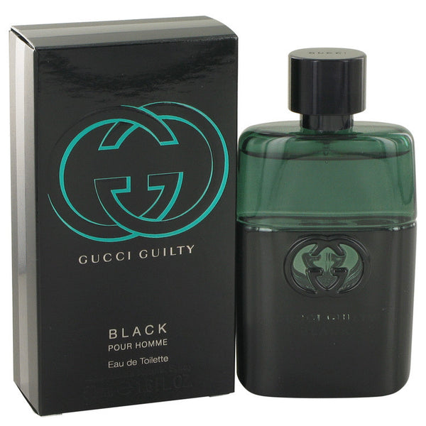 Gucci Guilty Black by Gucci Eau De Toilette Spray 1.6 oz Men - Fragrance And Gift