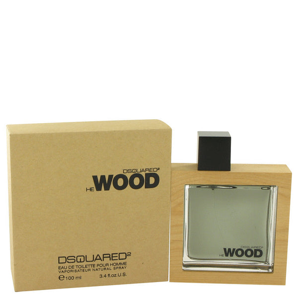 He Wood by Dsquared2 Eau De Toilette Spray 3.4 oz Men - Fragrance And Gift