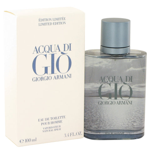 Acqua Di Gio Blue Edition by Giorgio Armani Eau De Toilette Spray (Limited Edition) 3.4 oz Men
