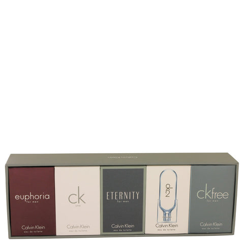 CK ONE by Calvin Klein Gift Set -- Deluxe Travel Mini Set Includes Euphoria CK One Eternity Ck 2 and CK Free Men