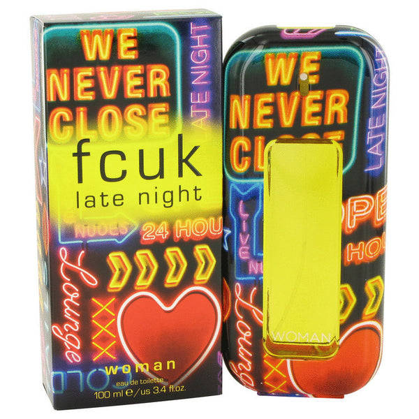 FCUK Late Night by French Connection Eau De Toilette Spray 3.4 oz Women - Fragrance And Gift