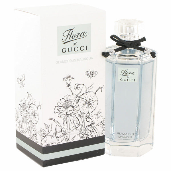 Flora Glamorous Magnolia by Gucci Eau De Toilette Spray 3.3 oz Women - Fragrance And Gift