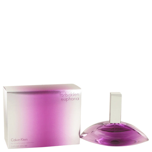 Forbidden Euphoria by Calvin Klein Eau De Parfum Spray 3.4 oz Women - FragranceAndGift