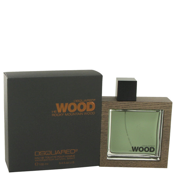 He Wood Rocky Mountain Wood by Dsquared2 Eau De Toilette Spray 3.4 oz Men - FragranceAndGift