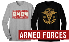 Armed Forces Long Sleeve Tees