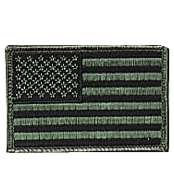 "Iron On/Sew On Embroidered US Flag Patch 3"" x 2"""
