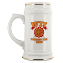 Where's the Fire (WTF) Firefighter 22 oz. Ceramic Beer Stein