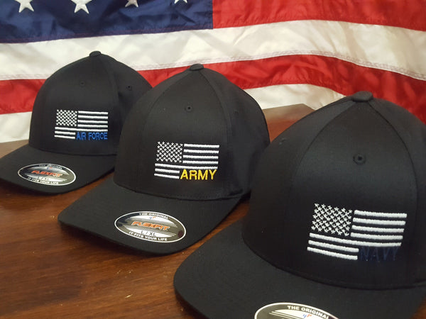 The Navy Side Flag Flexfit Hat