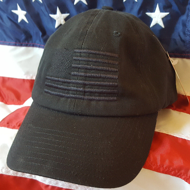 NEW! American Made Blackout Flag Adjustable Dad Hat