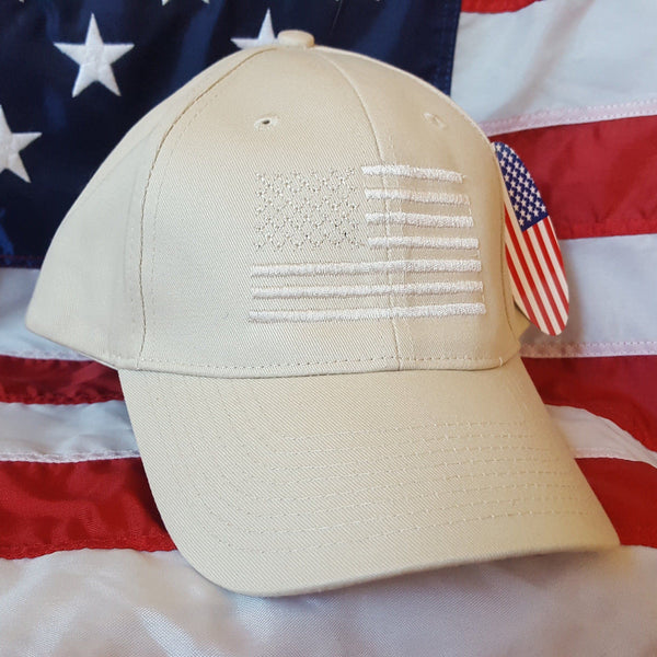 NEW! American Made American Flag Adjustable Stone Hat